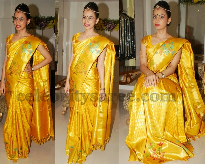 Natasha Yellow Bridal Saree