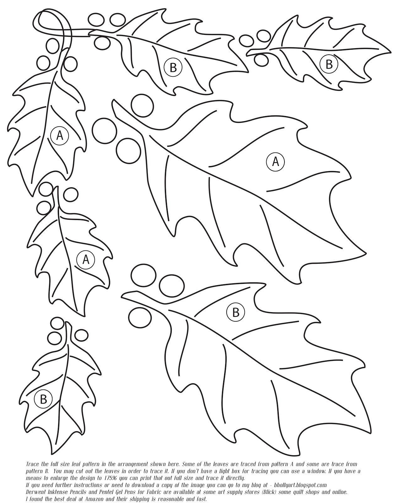 Poinsettia Outline Pattern of the poinsettia