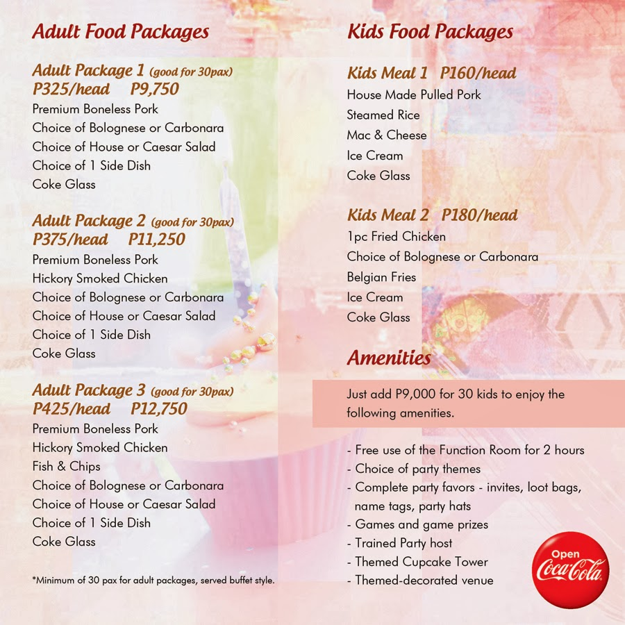 goldilocks party package