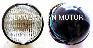 Reflektor/lampu depan CB.