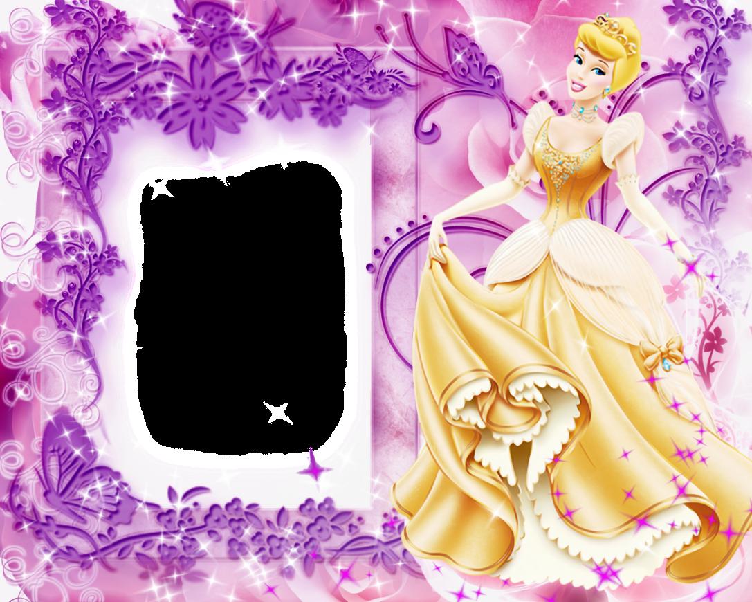 Invitaciones O Marcos Para Fotos De Las Princesas Disney