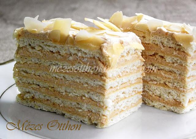 karamellás sütemény egytojásos torta fotó