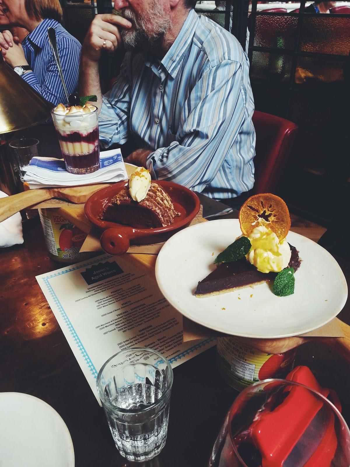 Adelaide, Jamie's Italian, Dessert