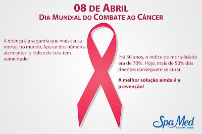 08 de Abril Dia Mundial do Combate ao Câncer