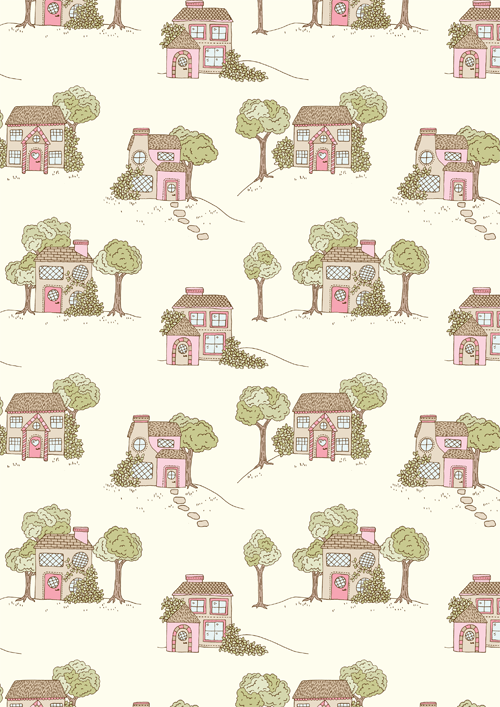 Emma Margaret Illustration Village Pattern 2015