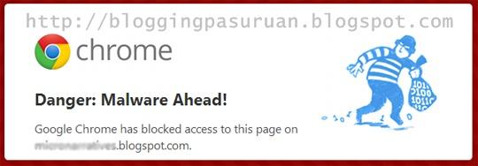 Cara Menghapus Peringatan Malware Yang Mengarah Pada Blog ( Blogger ) Anda