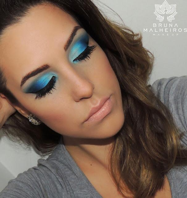 tutorial de maquiagem azul