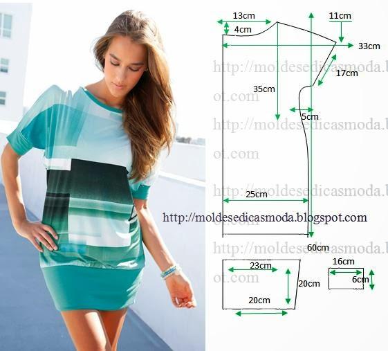 Сшить тунику-платье своими руками из трикотажа