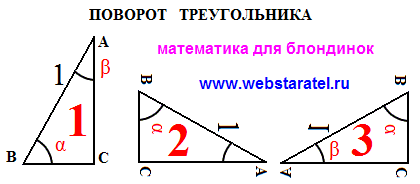 pobedpix.com / поворот треугольника на 45 градусов