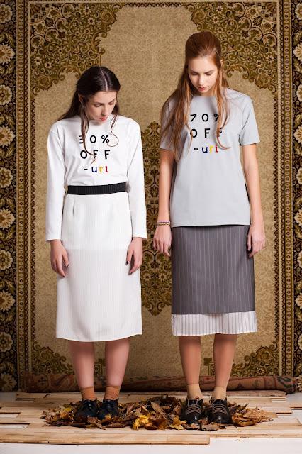 AW 12 layerd skirt and print shirt