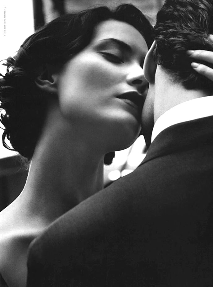 Shalom Harlow by Peter Lindbergh for Tiffany & Co. ad campaigns c.2005
