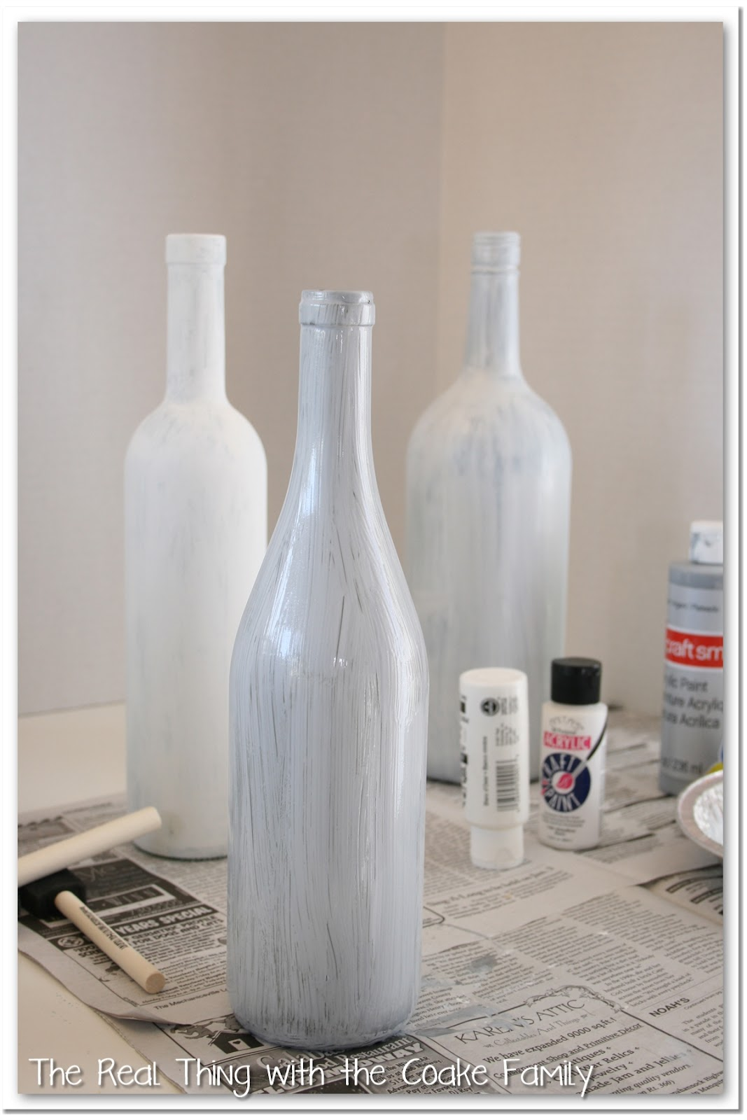 Wine bottle crafts the real thing with the coake family for What to do with a wine bottle