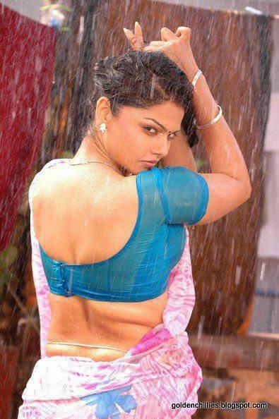wet saree images of hot actress