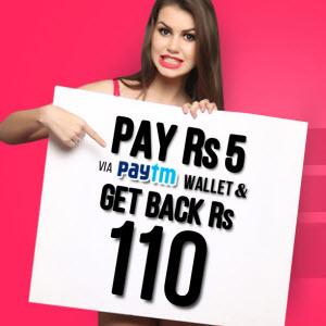 paytm giftofcloe offer Pay 5 get 10