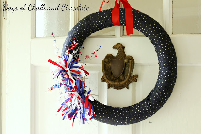 days of chalk and chocolate patriotic wreath