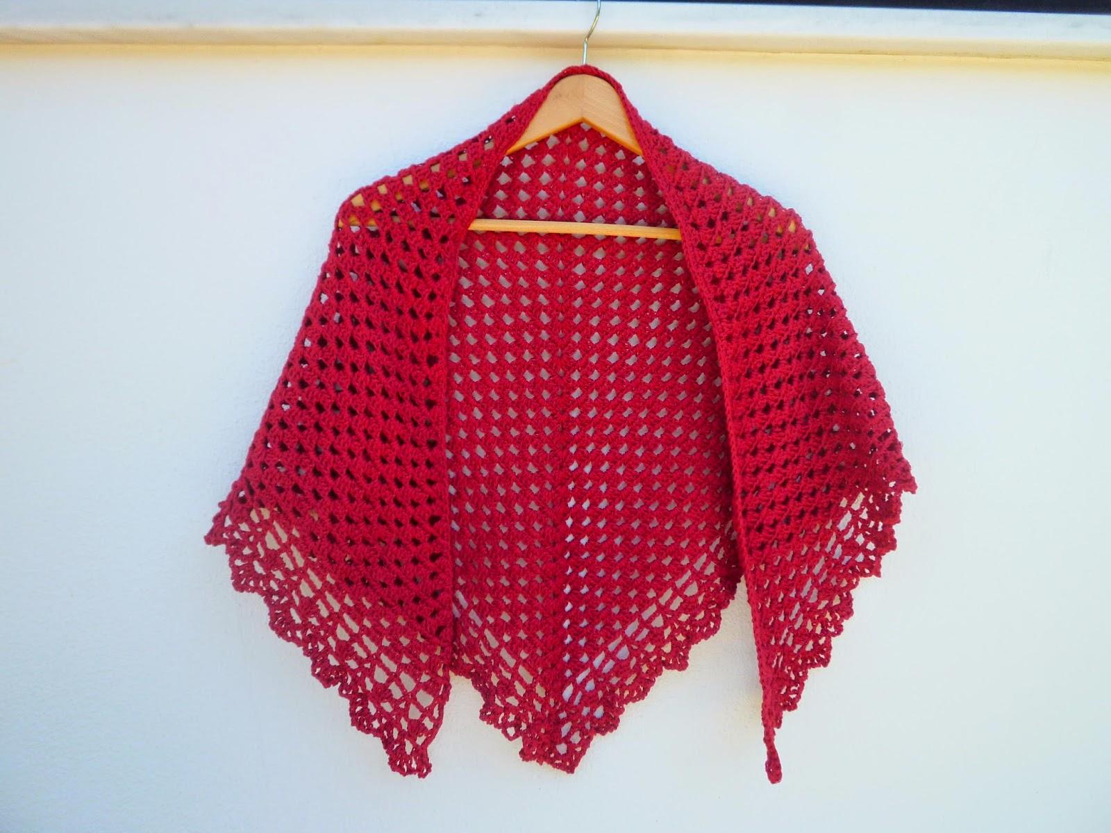El ganchillo engancha chal pico o toquilla a crochet - Toca de ganchillo ...