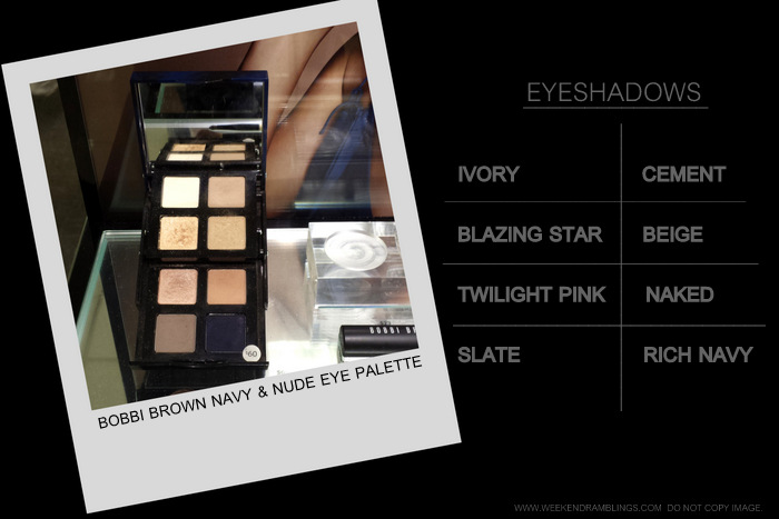 Bobbi Brown Navy Nude Eye Palette Makeup Collection - Photos Swatches