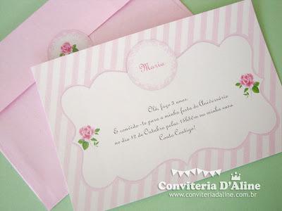 convite infantil jardim rosa