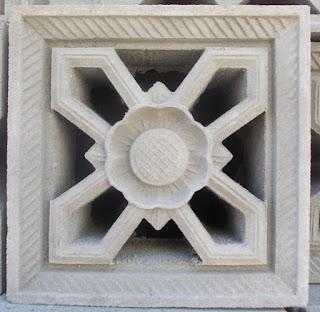 roster beton motif bunga