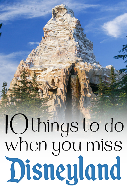 10 Things To Do When You Miss Disneyland   Ribbons Down My Back