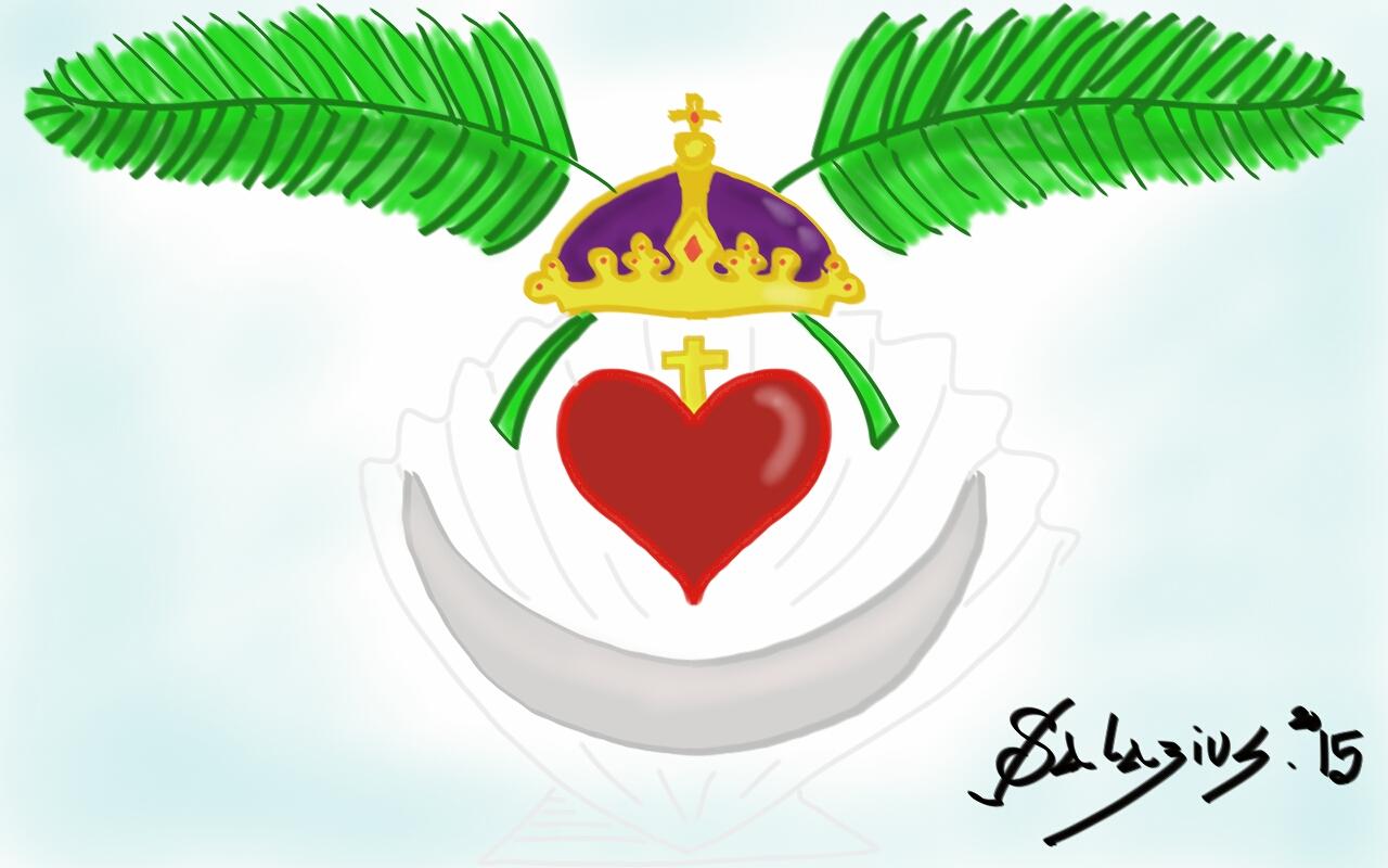 The hermetical blog of salazius d 39 artign quelques dessins for Coeur couronne et miroir apollinaire