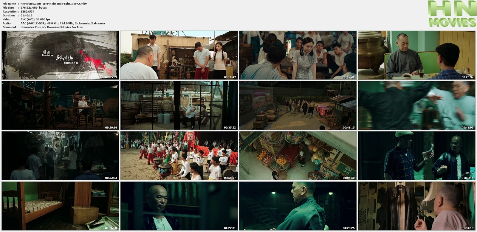 movie screenshot of Ip Man: The Final Fight fdmovie.com