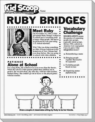 All Worksheets Ruby Bridges Homework