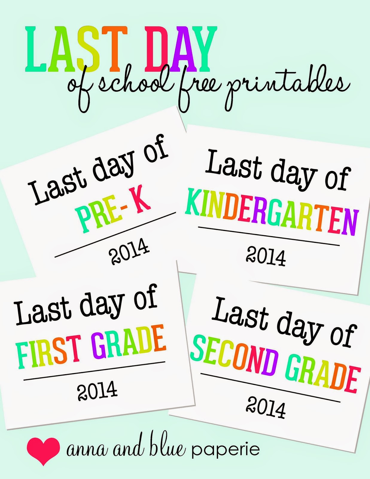 This is a picture of Fan Last Day of Preschool Printable