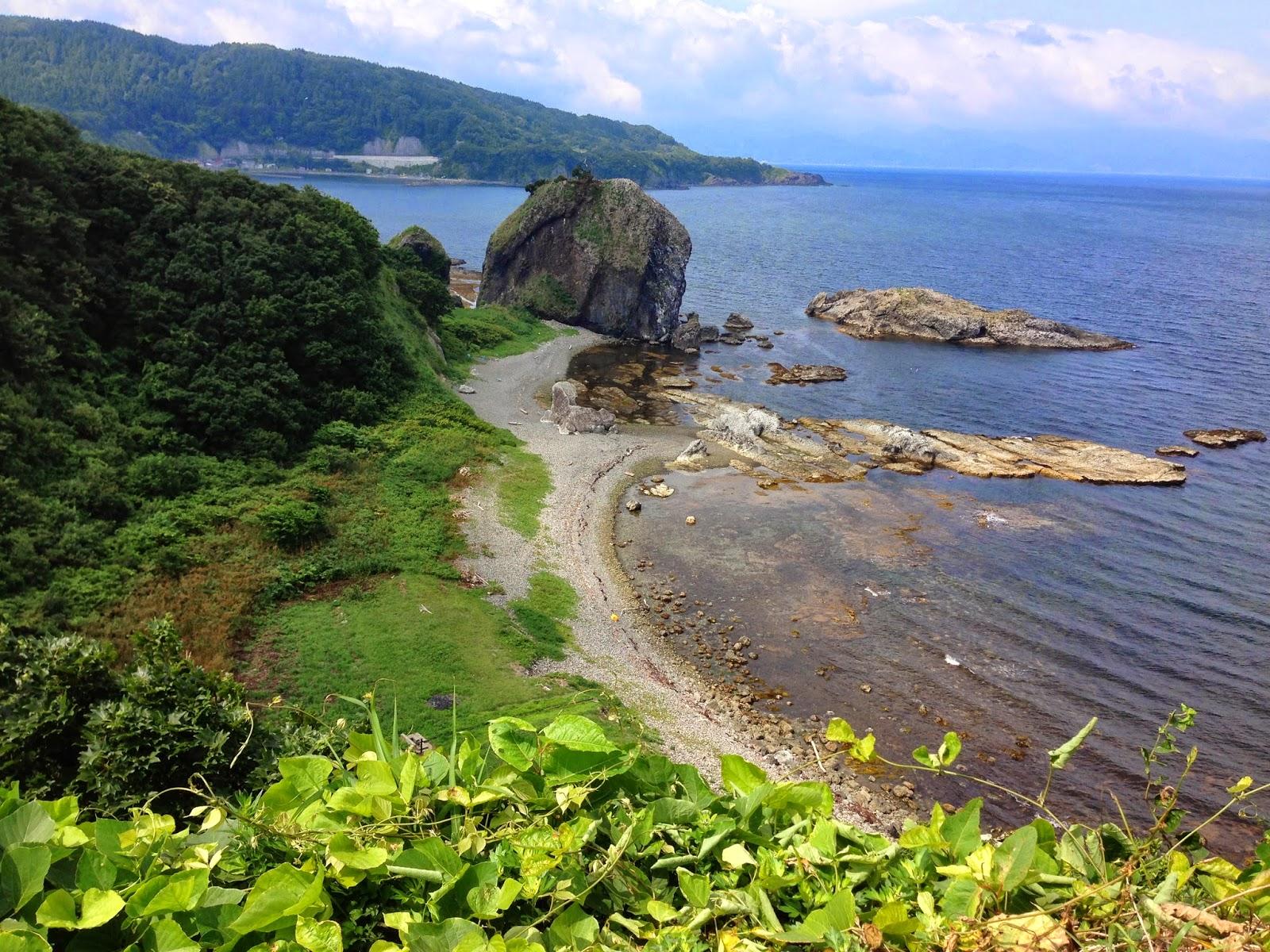 aomori coast, cycling aomori