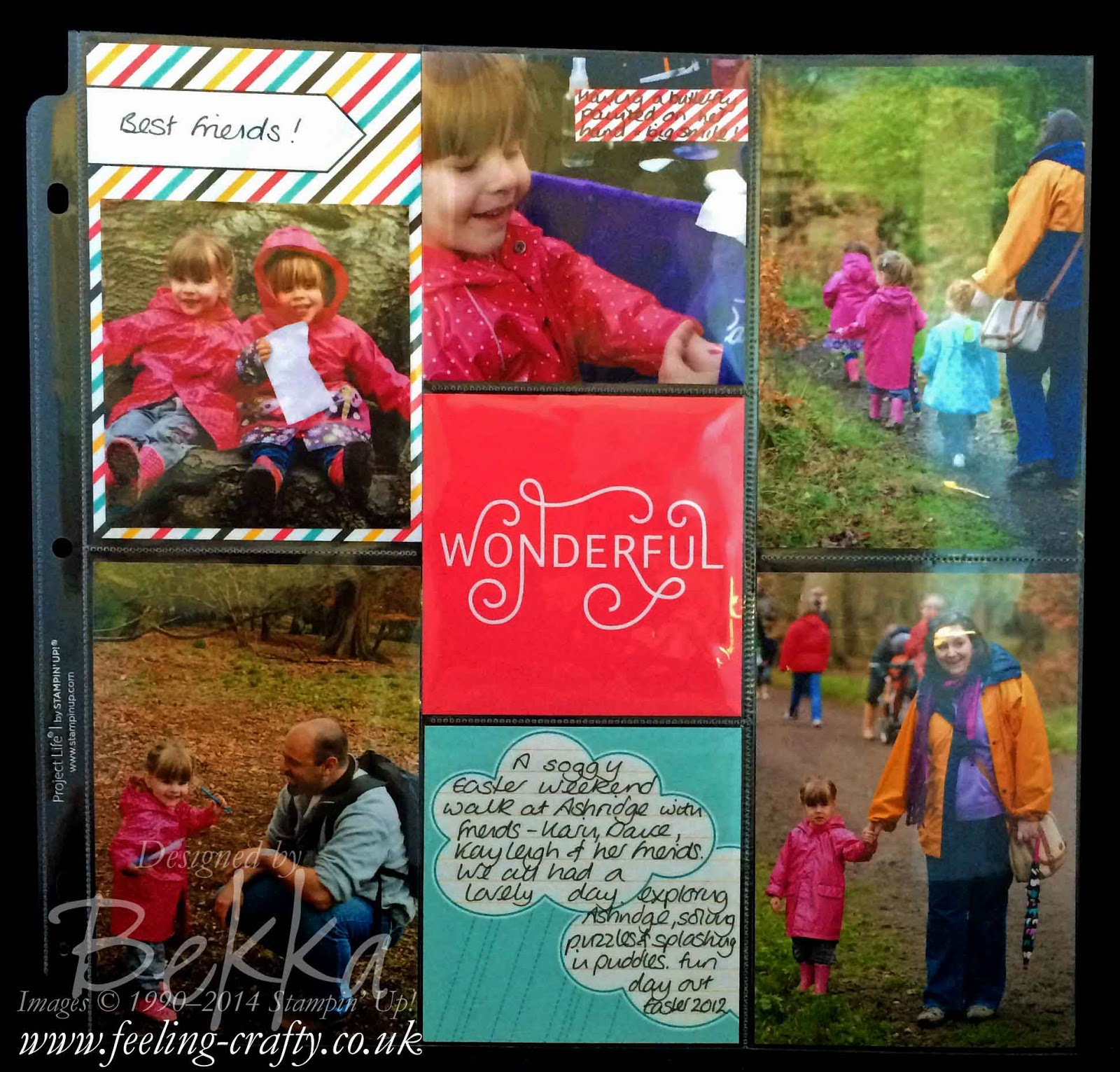 Everyday Adventure Project Life by Stampin' Up! Page by Stampin' Up! UK Independent Demonstrator Bekka Prideaux