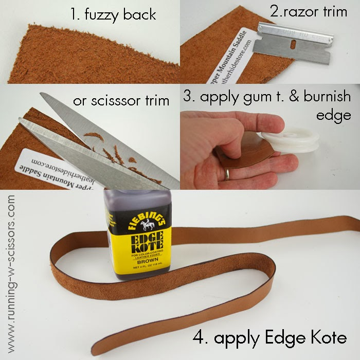 Running With Scissors: How To Finish Leather Edges