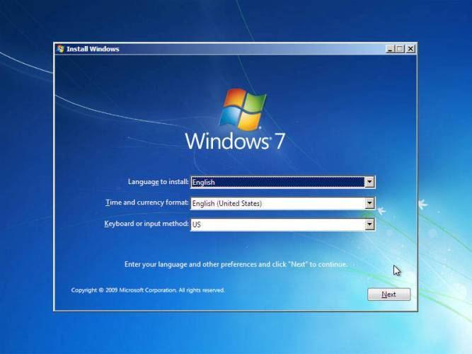 cara instal windows 7 memilih setelan bahasa