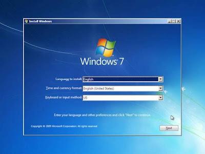 Cara install Windows 7 Dengan Sempurna