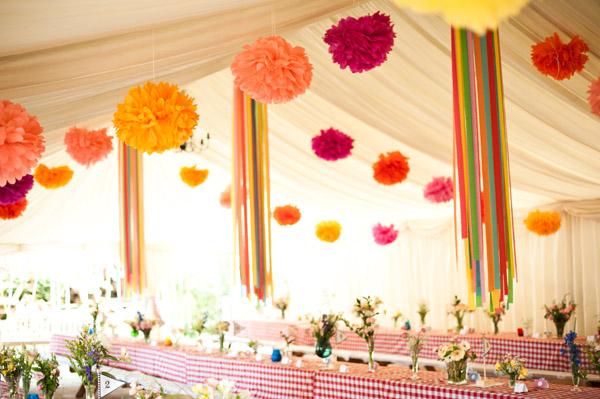 Помпоны из бумаги для декора