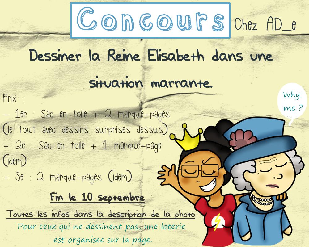 Ad e concours dessiner la reine elisabeth 2 dans une situation marrante - Dessin de l angleterre ...