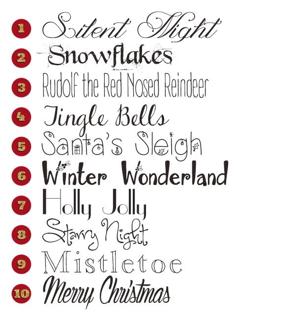 free winter fonts