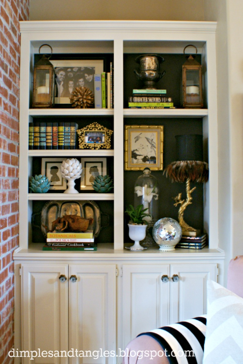How to add interest to the back of your shelves dimples for Shelf life of paint