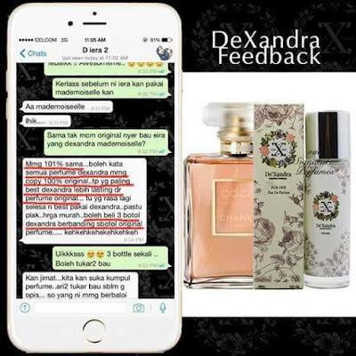 101% sama macam original , lebih long lasting berbanding perfume original