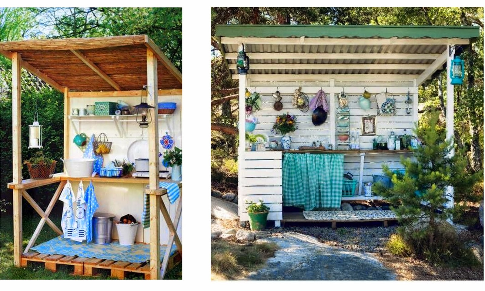 Bohemian Outdoor Summer Kitchens