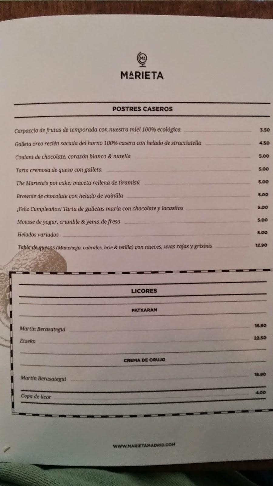 Restaurantes en madrid cr ticas y reportajes en el blog comi ndose madrid - La marieta madrid ...