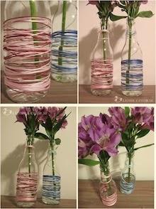 Vasinhos de garrafa reclicável