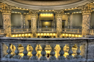 View across the second floor of the Capitol Rotunda, Boise, Idaho