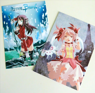 photo des 2 cartes postales offertes par Raynart à Juju Gribouille