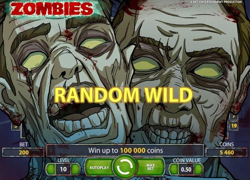 Zombies Video Slot Screen