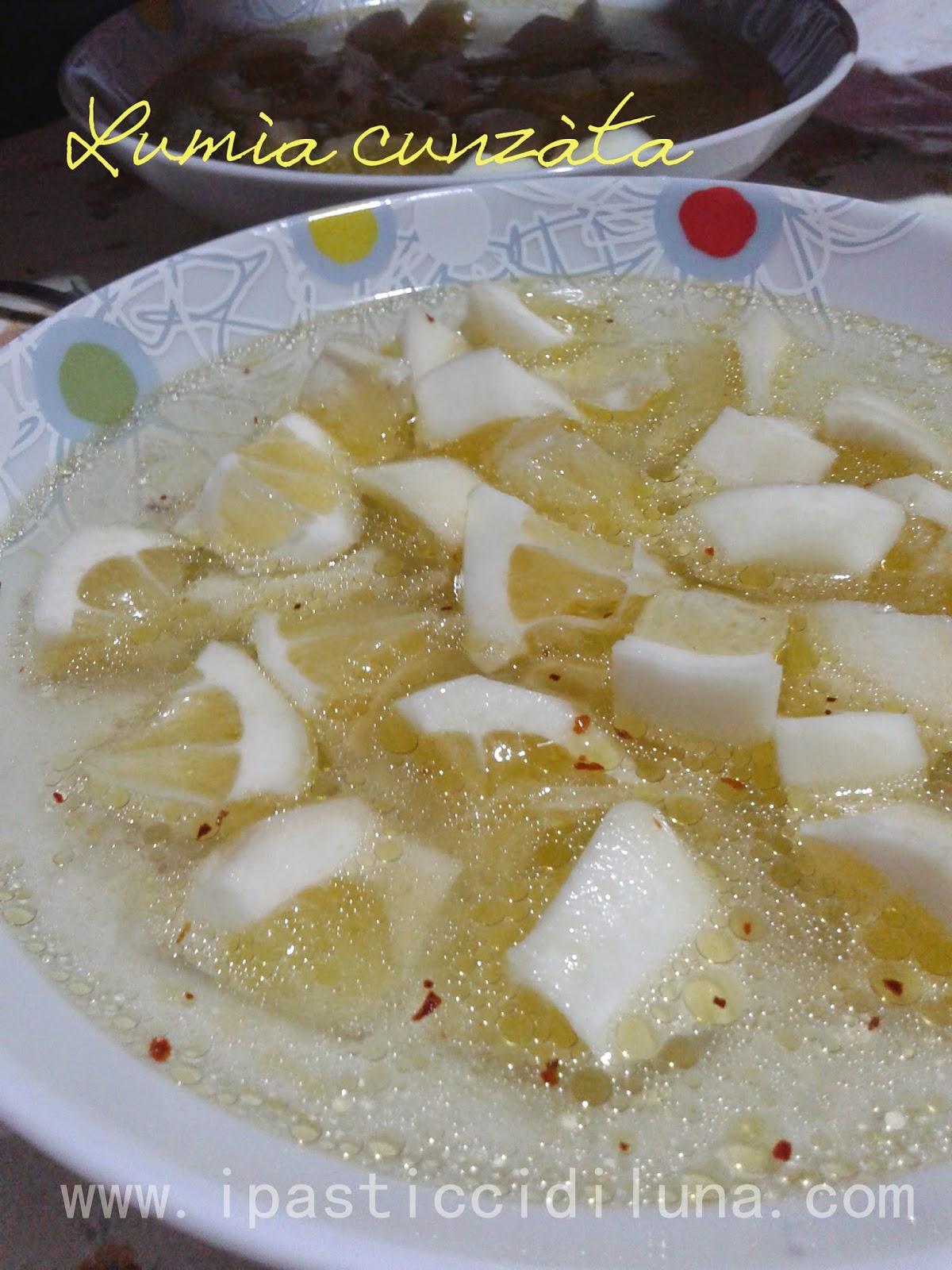 I pasticci di luna ricetta lum a cunz ta pane e limone - Antica cucina siciliana ...