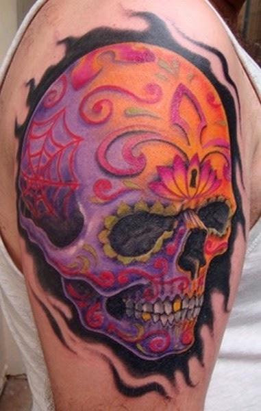 Tattoo Tengkorak di Pangkal Tangan
