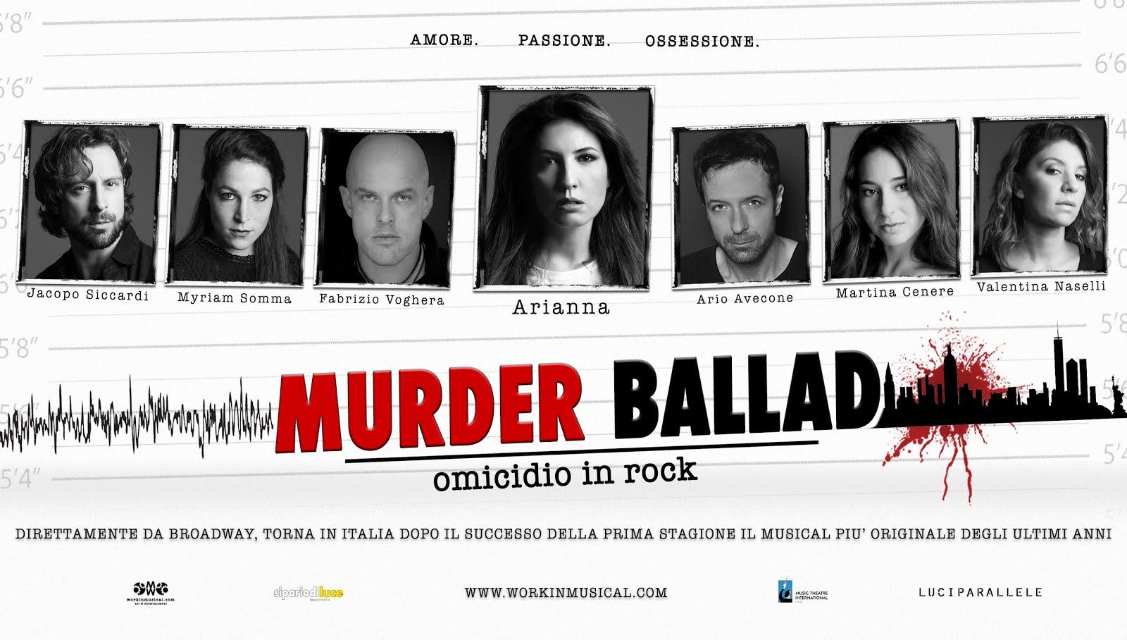 MURDER BALLAD Omicidio in Rock Seconda Stagione