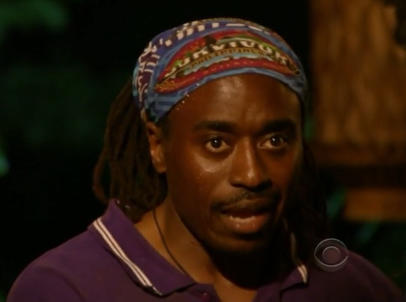 Survivor Russell Swan tribal council