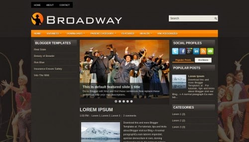 Broadway - Free Blogger Template