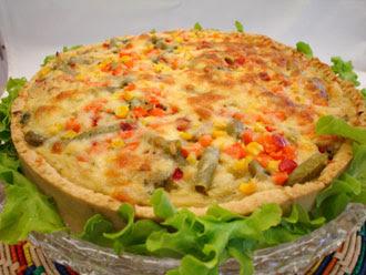 Torta de frango com legumes light